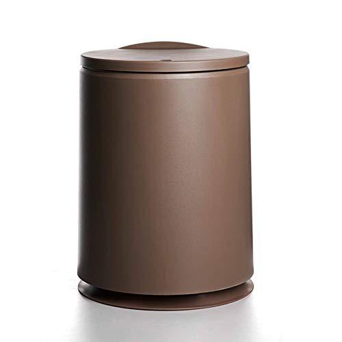 CAI CAI Runder Schritt-Mülleimer kann Plastik-Pop-Up-Haushaltsweiß abs,Brown (Schritt Mülleimer Mit Liner)