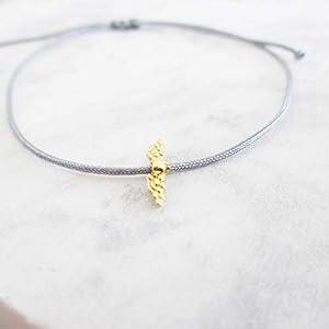 Armband mit Flügel 925er Sterlingsilber Gold | Schutzengel Engel Schutz Führerschein Glücksbringer | Weihnachten Geschenk