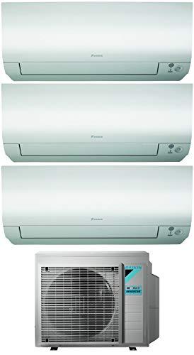 Climatizzatore Trial Split 7000 + 7000 + 9000 Btu, Inverter, Classe A+++/A+++ Gas R32 Wi-Fi Perfera