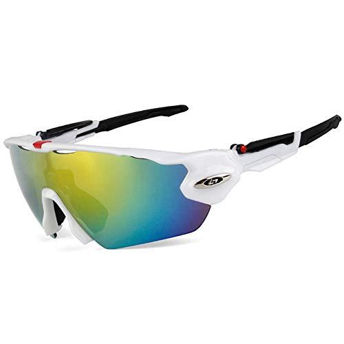 W.zz Radfahren Brille Outdoor polarisierte Reitbrille männlich Sportreitbrille Brille UV400 Lightweight in Radfahren Angeln Laufen Fahren Golf,blackandwhiteframe