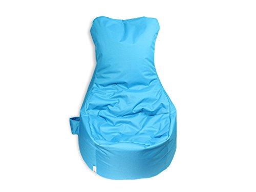kissenwelt.de *Weihnachts Sale* Sitzsack Sessel - Blau - Polyester - L70 x B65 x H90 cm - In/Outdoor Sitzsack- Made in Germany