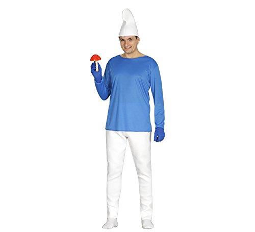 Schlumpf Blaue Kostüm - Generique - Blauer Zwerg Kostüm für Herren M (48-50)