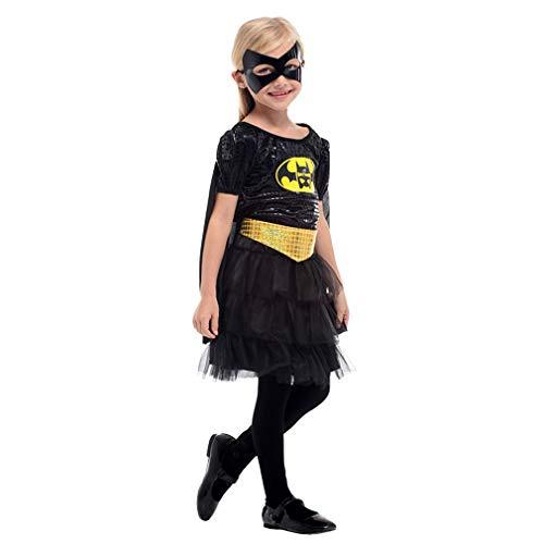 Kinderkleidung Mädchen Prinzessin Kleid Kleine Hexe Vampir Kostüm Maskerade Performance Kleid Shiny Frauen Weibliche Geeignet für 110-120 cm (M) ()
