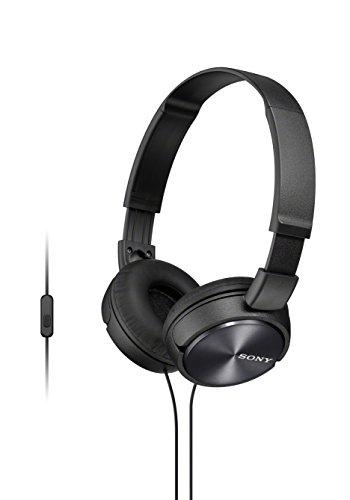 Sony MDR-ZX310APB - Auriculares de diadema cerrados (con micrófono, control remoto integrado), negro