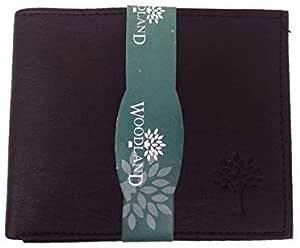 Woodland-o-Wallet Men's Leather Casual Regular Purse Wallet (Black)