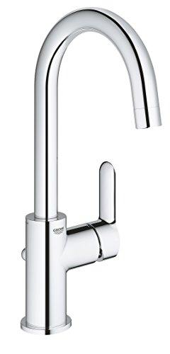 GROHE BauEdge | Badarmaturen - Einhand-Waschtischbatterie, DN 15 L-Size | Einlochmontage | chrom | 23760000
