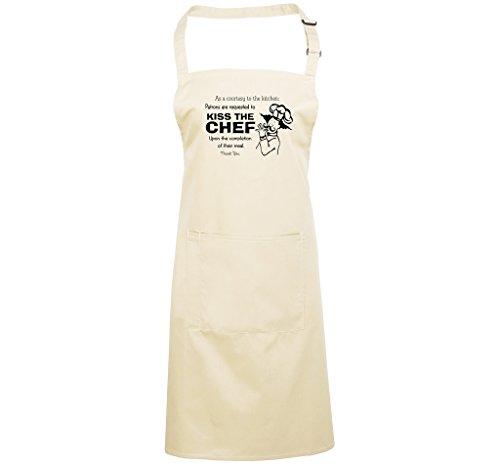 KISS THE CHEF - humourous unisex apron