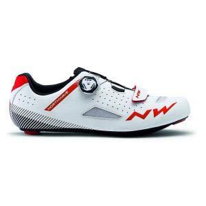 Northwave Core Plus Rennrad Fahrrad Schuhe weiß/rot 2019: Größe: 44 (Northwave Carbon)