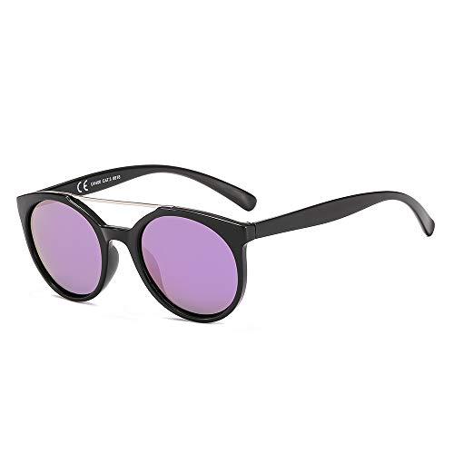 Suertree JH9030A Piloten-Sonnenbrille, polarisiert, modisch, doppeltes Metallbrückenschirm, Unisex, für Damen und Herren