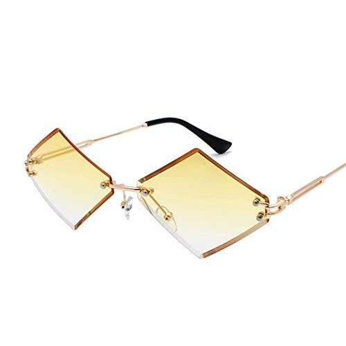 DAIYSNAFDN Sonnenbrillen mit kleinem Rahmen und Sonnenbrille für Frauen Yellow