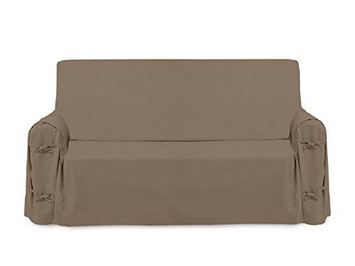 Fodera per divano in cotone PANAMA tortora