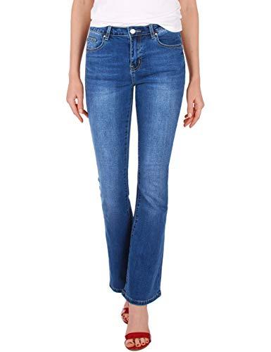 Fraternel Damen Jeans Hose Bootcut normal Waist Stretch Blau XXL / 44