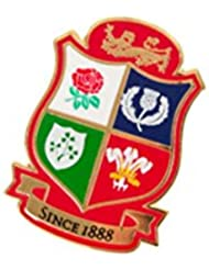 Britannique & Irlandais Lions Rugby Bouclier Épinglette [rouge]