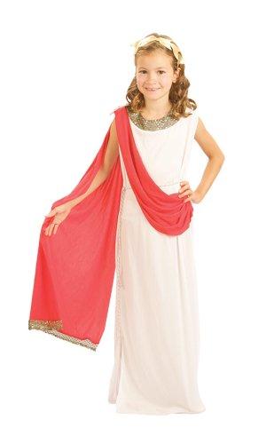 Costume travestimento da dea greca romana, da ragazza, ideale per la settimana del libro, disponibile in taglia piccola
