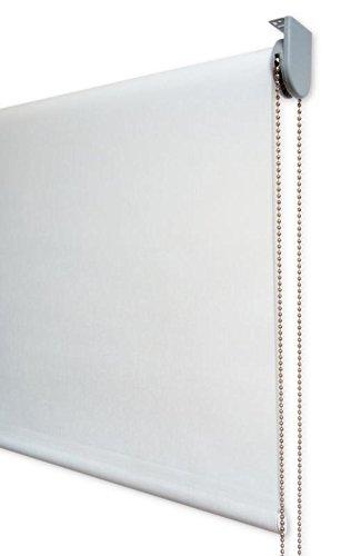 Estor enrollable visillo PREMIUM METAL (desde 40 hasta 300cm de ancho) transparente (máxima claridad y visibilidad exterior). Color crudo. Medida 216cm x 200cm para ventanas y puertas