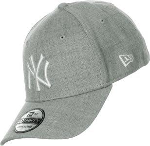 New Era Herren Baseball Cap Mütze M/LB Basic NY Yankees 39Thirty Stretch Back grau/weiß