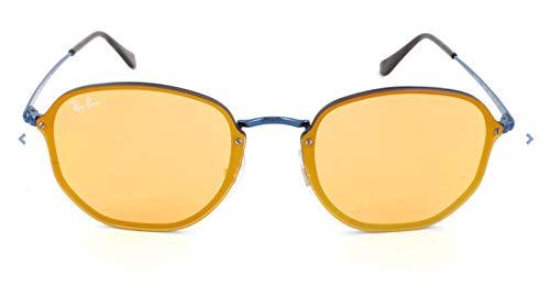 Ray-Ban Rayban Unisex-Erwachsene Sonnenbrille 3579n Blue/Darkorangemirrorgold, 58