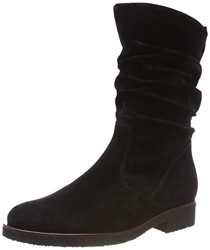 Damen Fashion Stiefel Schwarz (Gabor Shoes Damen Comfort Sport Hohe Stiefel, Schwarz (Schw (S.S/C/Mel.) 47), 37 EU)