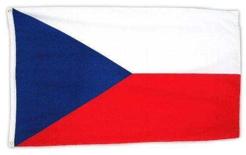 Fahne Tschechien 150 x 90cm mit Ösen -