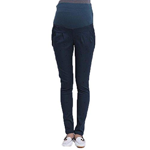 Highdas enceintes Pantalons Femmes abdominales maternité haute élastiques Pantalons Leggings Belly Dark Green