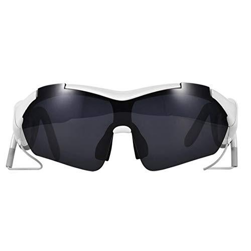 KCaNaMgAl Smart 4.0 Bluetooth-Brillen-Headset, kabellose Sportbrillen mit polarisierter Sonnenbrille,White