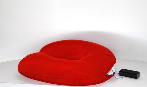Wellness Massagekissen elektrisch in Rot für den Nacken Nackenkissen ekektrisch Vibrations Massage - Funktion