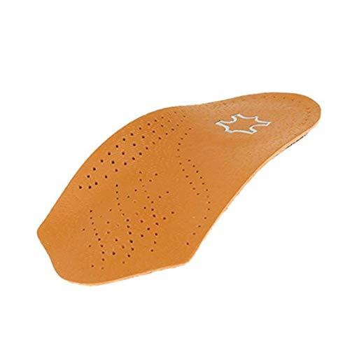 1 Paar Fußbett Einlegesohlen Unisex 3/4 Länge Leder Fußbett orthopädische Einlagen Plattfuß Valgus Korrektor Insert Schuh Pads -