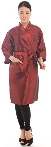 Bata clientes salón belleza estilo kimono, 109cm