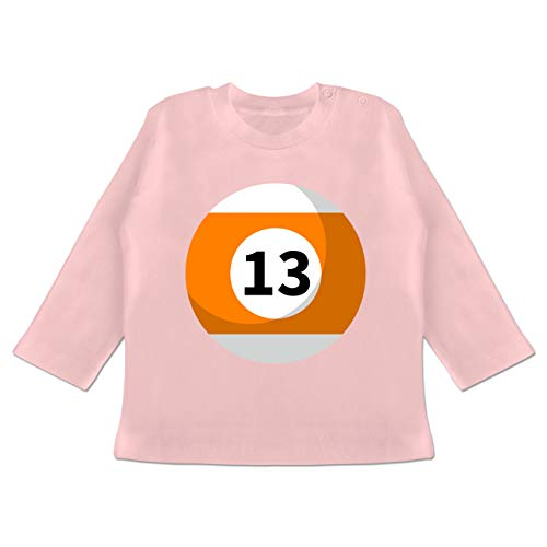 g Baby - Billardkugel 13 Kostüm - 3-6 Monate - Babyrosa - BZ11 - Baby T-Shirt Langarm ()