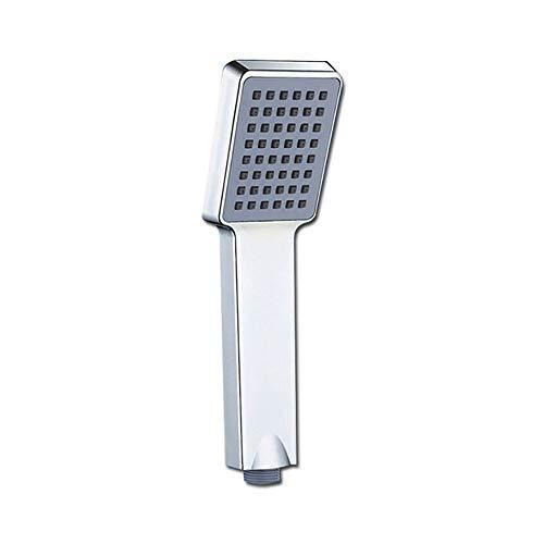 YQAD Handbrause, quadratischer Duschkopf, Chrom, Wassersparendes ABS-Badzubehör, Regendusche (48 Löcher) Red Square Platte