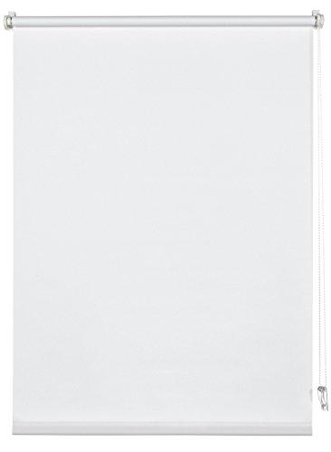Deco Company 23-1023 Tenda a Rullo con Morsetto, Poliestere, Bianco, 95 x 150 cm