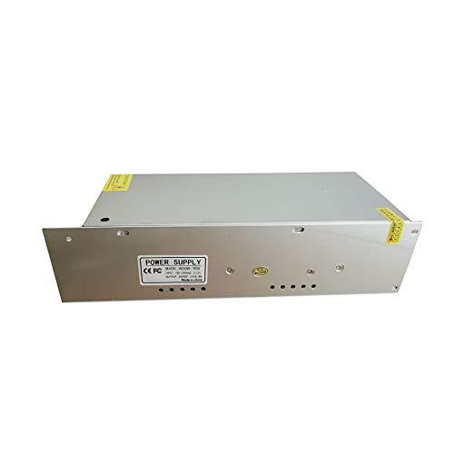 WEIWEITOE-DE 800w Spannungsstabilisierte Quelle Gleichstromnetzteil mit festem Ausgang Universal-Schaltregler Universal-Schaltnetzteil, Silber, Schaltregler