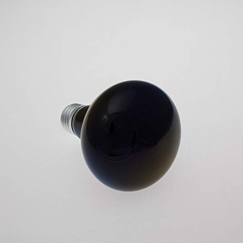 showking - Schwarzlicht Reflektorlampe 240V / 75W / R80 / Sockel E-27 / UV-Aktiv - Schwarzlichtlampe E27
