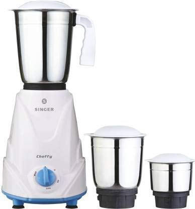 Singer Cheffy 500 Watts 3 Jar Mixer Grinder (White)