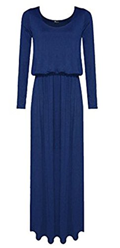 Fashion Essentials-Women-langes Hülsen-einfaches Toga Puffball Ballon-Maxi Kleid Charcoal