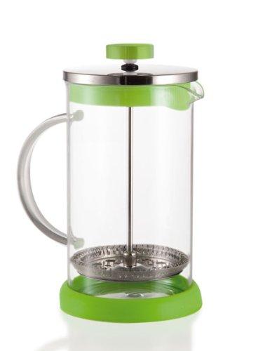 Brandani tisaniera moderna cucina tavola fluo verde tisana the vetro e inox 59287