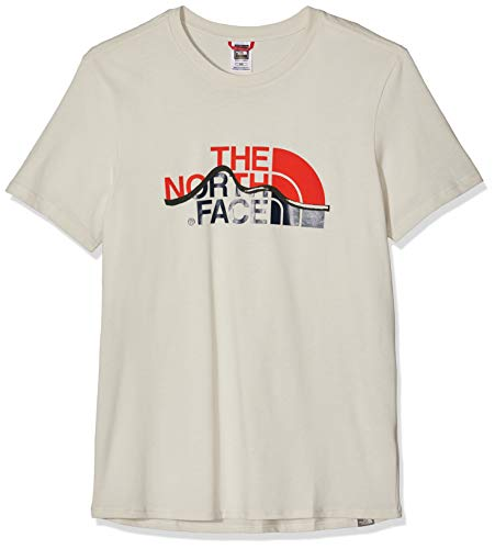 778a5ceadd The North Face Mountain Line T- T-Shirt Homme, Blanc (Vintage White), L