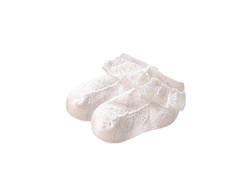 Need4Baby Babysocken für Mädchen Sommersocken Taufsocken Gr.15-20 Farbe: Cremeweiß