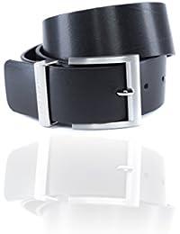 Hugo Boss Bud - Cinturón de piel para hombre, color negro