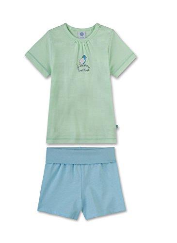 Sanetta Baby-Mädchen Zweiteiliger Schlafanzug 221323, Grün (Supergreen 4925), 92 (92)