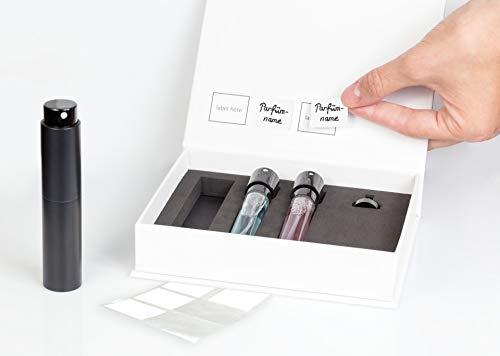 Premium Parfümzerstäuber im 3er Set - Hochwertige Taschenzerstäuber nachfüllbar mit Trichter, Etiketten und Magnetbox