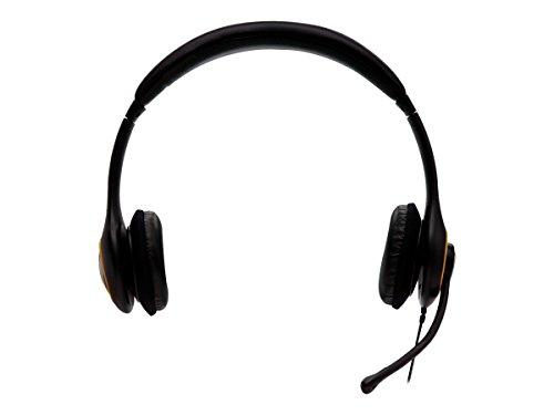 V7 Deluxe Digital USB Stereo Headset Kopfhörer mit Noise Cancelling Mikrphone, schwarz, HU511-2EP (Noise Stereo Cancelling Kopfhörer)