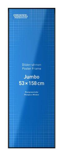 Kunststoff-Wechselrahmen für Jumbo-Poster 53 x 158 cm // Schwarz // #14545