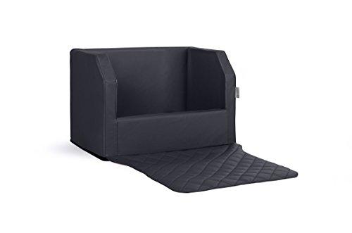 Travelmat PLUS Kofferraum Hundebett fürs Auto 90x70 cm Kunstleder schwarz (Lieferung ohne Bestickung)