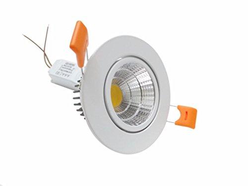 Silamp - Spot Orientable LED Encastrable 5W Rond 80 - Couleur eclairage : Blanc Neutre 4000K - 5500K