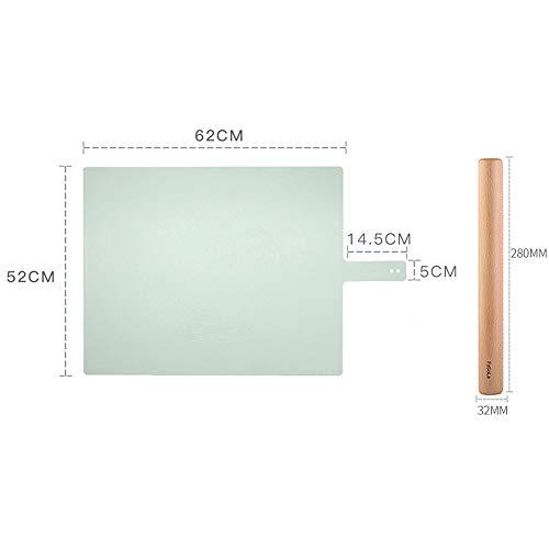 xgvvb Silikonmatte MatteLebensmittelqualität Panel HaushaltsbackenwerkzeugeOlivgrün+kleine Nudeln