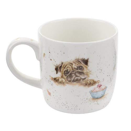 Wrendale Pug Love (Dog) Royal Worcester Fine Porcelain