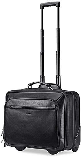XJY Valigia Media Trolley Laptop Deposito Carry-on Spinner Valigia 4 Ruote espandibile con Corsa del Carrello della Manica Bagagli espandibile Wheeled Bag (Color : Black, Size : Small)