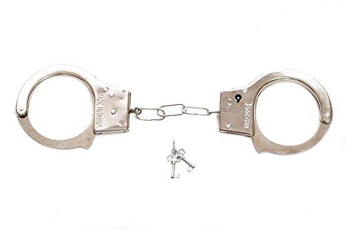 DRESS ME UP - Fasching Karneval Scherz & Spaßartikel Handschellen Cuffs Polizist Bulle Domina RH-001 (Halloween Handschellen)