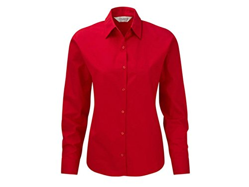 CAMICIA DONNA POPELINE RUSSELL Rosso